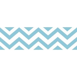 Sweet JoJo Designs Turquoise/ White Chevron Wall Border