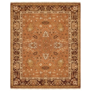 """Grand Bazaar Hand-knotted 100-percent Wool Pile Pietra Rug in Rust/Brown 5'-6"""" x 8'-6"""""""