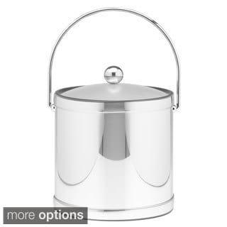 Mylar Metallic 3-quart Ice Bucket with Lucite Lid