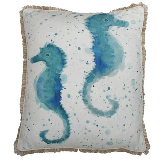 Syrena Seahorse Throw Pillow