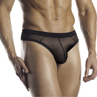 Fantasy Lingerie Excite for Men Black Ultra Soft Mesh Thong
