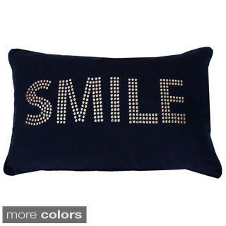 Cindy Smile Studded Throw Pillow