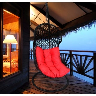 Prato Amaretto Brown and Red Outdoor/ Indoor Resort Hanging Chair