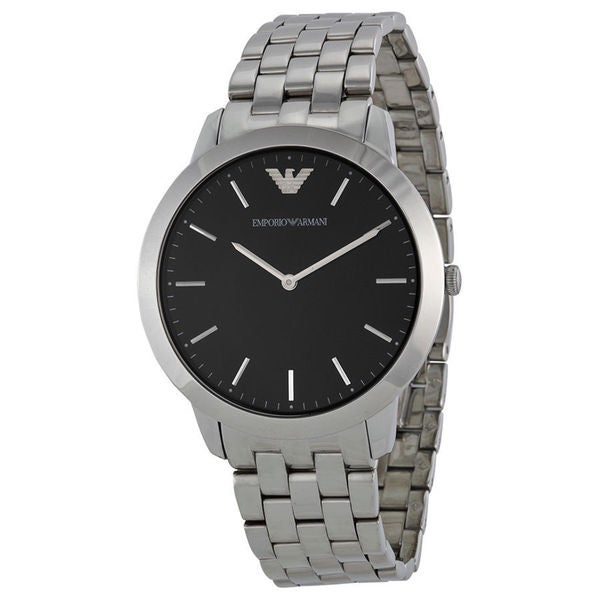 Emporio Armani Men's AR1744 'Retro' Silver Stainless Steel Watch