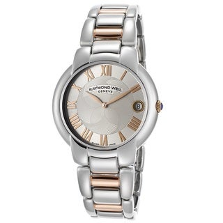 Raymond Weil Women's 5235-S5-01658 Jasmine Silver Dial Two Tone Stainless Steel Watch