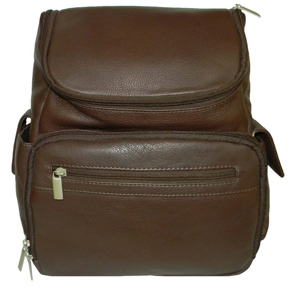 Paul & Taylor Organizer Leather Backpack