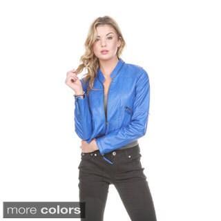 Stanzino Women's Zip Up Bolero Vegan Jacket