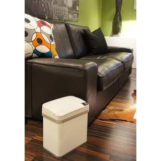 iTouchless Pearl White 2.5-gallon Multi-function Garbage Can