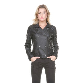 Stanzino Women's Vegan Moto Jacket