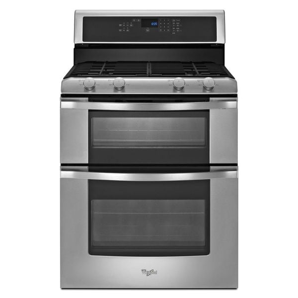 Whirlpool wgg555s0bs double oven gas range 16983681 shopping big discounts - Gas stove double oven reviews ...