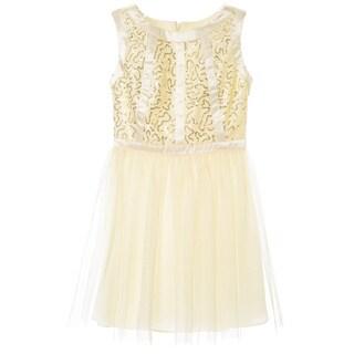 Sophia Christina Girls' Lace/ Sequin Satin Stripe Tutu Dress