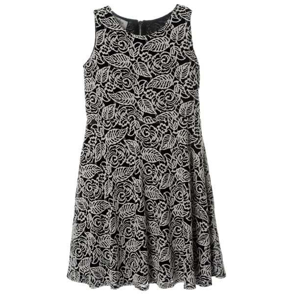 Sophia Christina Girls' Novelty Knit Fit-and-Flare Dress