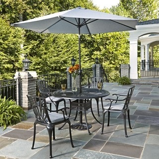 Largo 5-piece Dining Set with Umbrella and Cushions