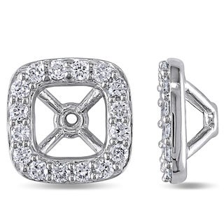 Miadora 14k White Gold 1/2ct TDW Diamond Stud Earring Jackets (G-H, SI1-SI2)