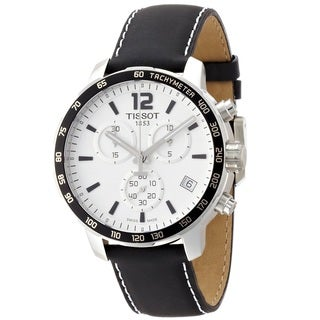 Tissot Men's T0954171603700 'Quickster' Chronograph Black Leather Watch