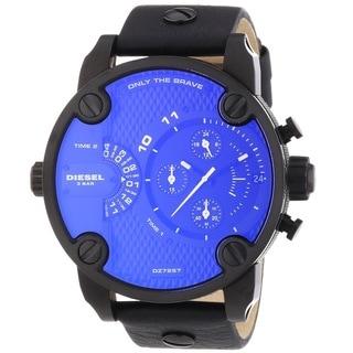 Diesel Men's DZ7257 'Little Daddy' Chronograph Leather Watch