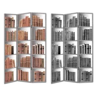 "Essential Wood/ Canvas ""Books"" Room Divider"