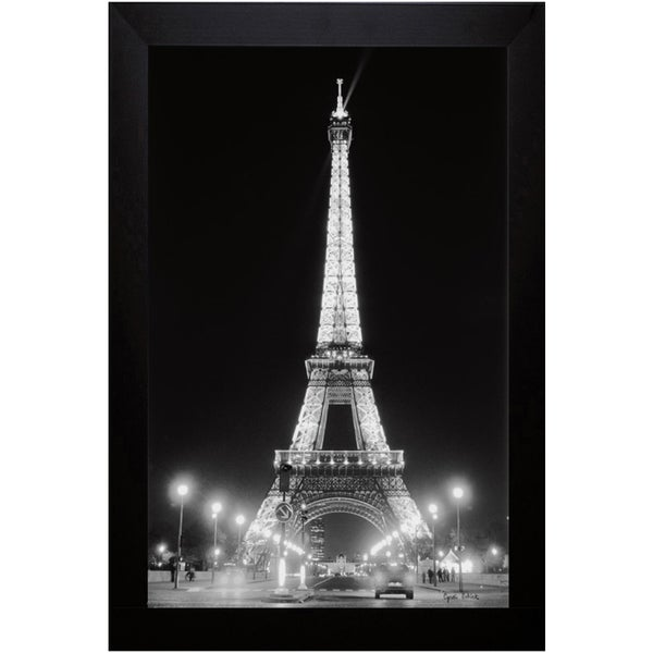 Cyndi Schick 'Eiffel Tower At Night' Framed Art Print