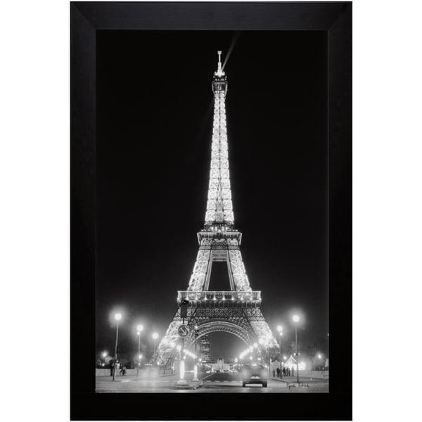 Cyndi Schick 'Eiffel Tower At Night' Framed Art Print