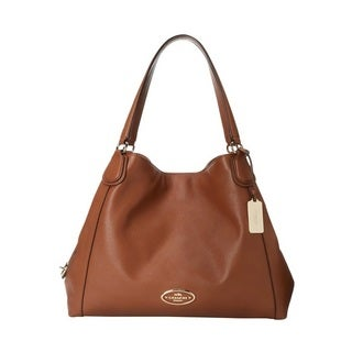 Coach Edie Refined Pebble Leather Shoulder Bag