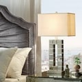INSPIRE Q Bella Tiled Bevel Mirrored 1-light Accent Table Lamp