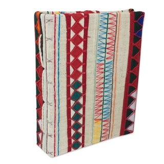 Handcrafted Cotton Saa Paper 'Akha Memories' Photo Album (Thailand)