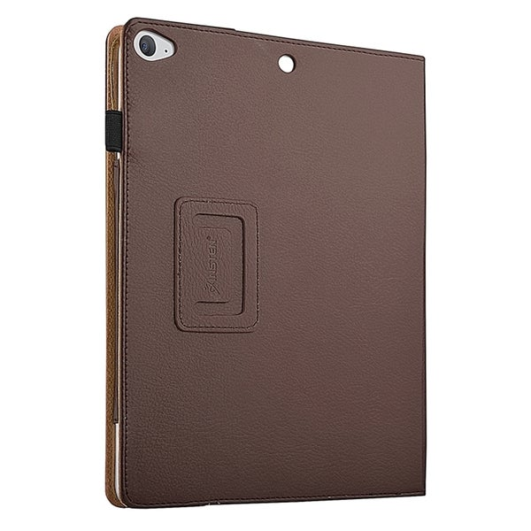 Insten Brown Leather Fabric Slide-in Tablet Case Cover with Magnetic Flip Stand For Apple iPad Air 2