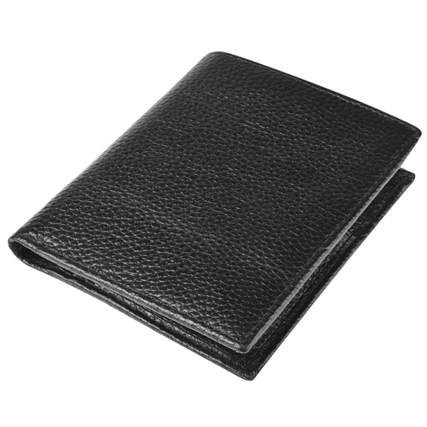 Zodaca Black Genuine 100% Leather Pocket Wallet