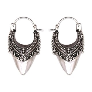 Handcrafted Sterling Silver 'Bali Origin' Earrings (Indonesia)