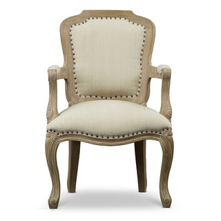 Poitou Wood Traditional French Accent Chair