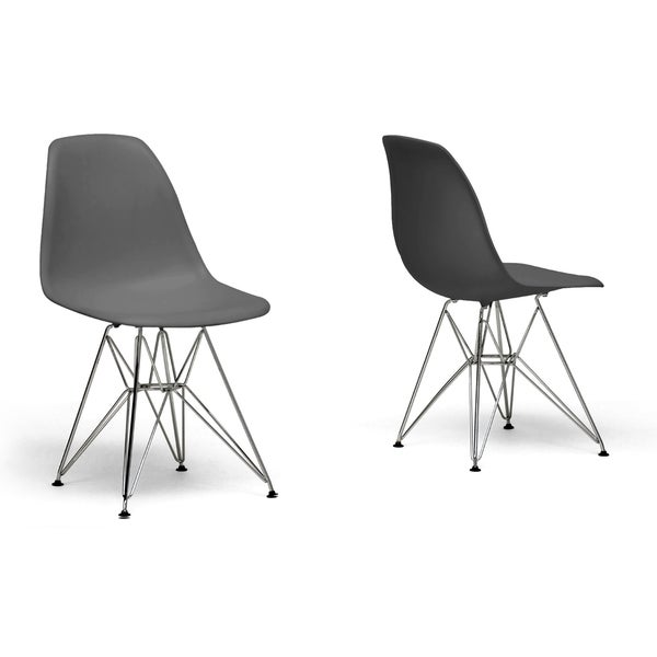 Ronnie Grey Chair with Wire Base Set of 2