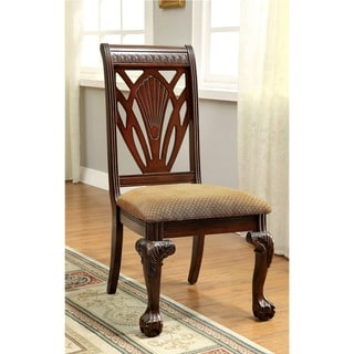 Furniture of America Ranfort Formal Cherry Side Chair (Set of 2)