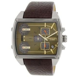 Diesel Men's DZ7325 'Mothership' Brown Chronograph Leather Watch