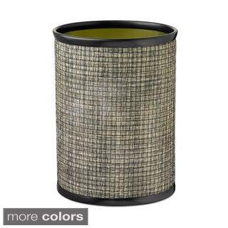 14-inch Woven Vinyl Oval Waste Basket