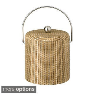 Woven Vinyl 3-quart Ice Bucket with Dome Lid