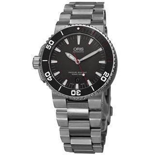 Oris Men's 733 7653 4183 MB 'Aquis' Grey Dial Stainless Steel Limited Edition Watch