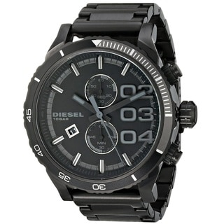 Diesel Men's DZ4326 'DoubleDown' Oversized Black Stainless Steel Watch