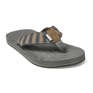 Muk Luks Men's 'Asher' Blue Steel Flip Flops