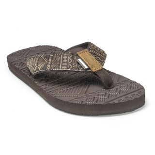 Muk Luks Men's 'Scotty' Brown Sport Flip Flops