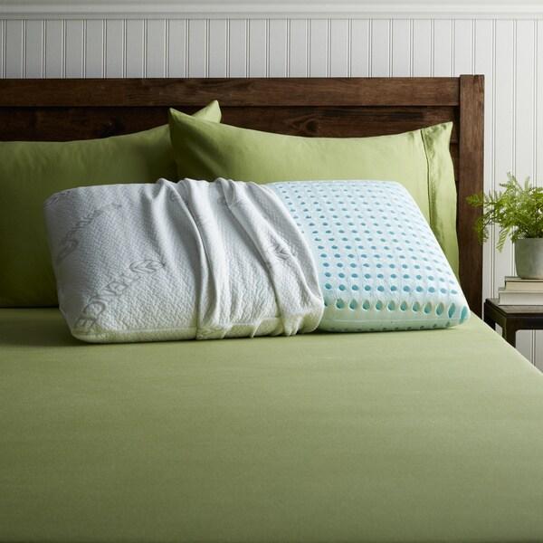 Blu Sleep Aquafoam High Density Queen Size Memory Foam Pillow 14799638