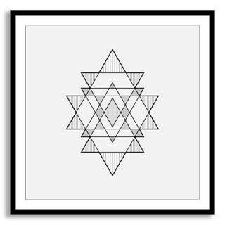 Kovalto1's 'Triangles' Framed Paper Art