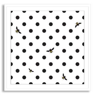 Kovalto1's 'Bumble Bee Polka Dots' Framed Paper Art