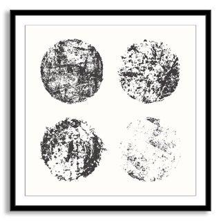 Kovalto1's 'Grunge Circles' Framed Paper Art