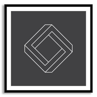 Kovalto1's 'Penrose Square' Framed Paper Art