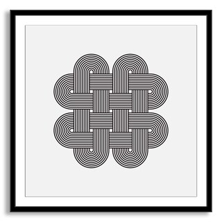 Kovalto1's 'Geometric Abstraction III' Framed Paper Art