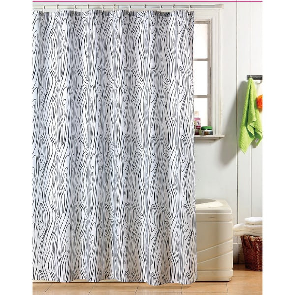 Kashi Dani Black/ White Swirl Shower Curtain