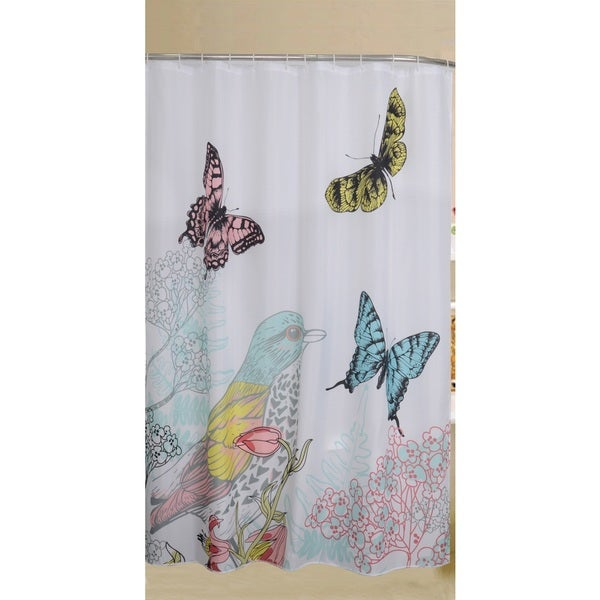 Printed Cardinal Polyester Shower Curtain