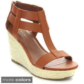 Mark & Maddux Women's 'Cosmo-2' Strappy Cut-out Wedges
