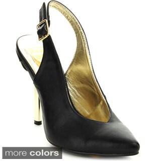 Fahrenheit Women's 'Brenda-03' Slingback Stiletto Pumps