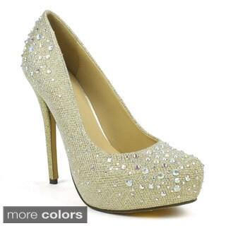 Celeste Women's Ingrid-02 Embellished High Heel Dress Pumps